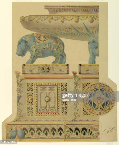 Design for a Surtout de Table, for State Porcelain Service of Ismail, Khedive of Egypt, Gaetano Lodi, Italian, 1830 – 1886, Manifattura Ginori,...