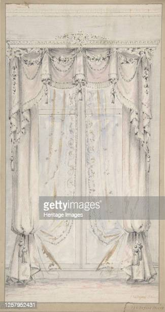 Design for Curtains 184184 Artist Charles Hindley Sons