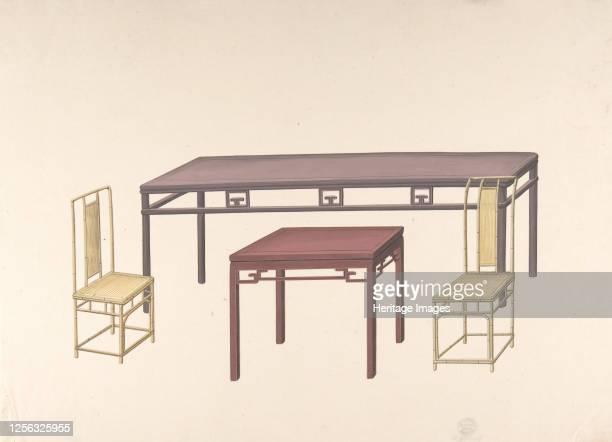 Design for Export Furniture circa 1800 Artist Anon