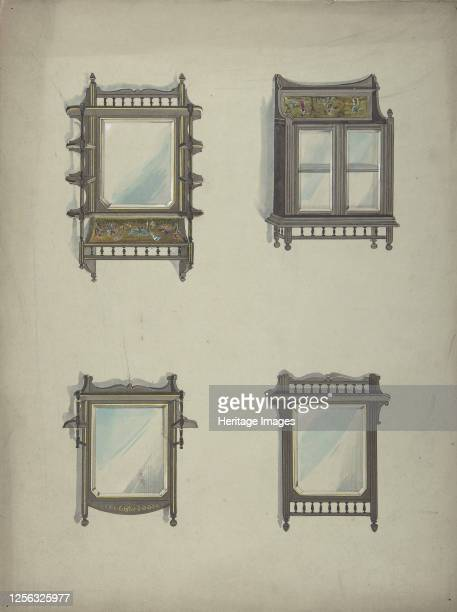Design for Four Hanging Mirrors 19th century Artist Anon
