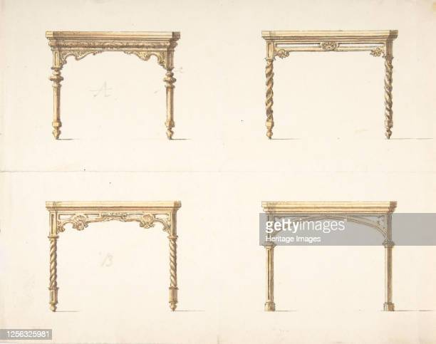 Design for Four Table Ends early 19th century Artist Anon