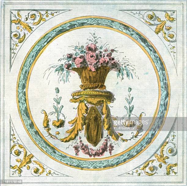 Design for interior decoration France 'End of 18th Century' After an aquarelle penandink drawing Plate CIX fig 205 from An Encyclopaedia of Colour...