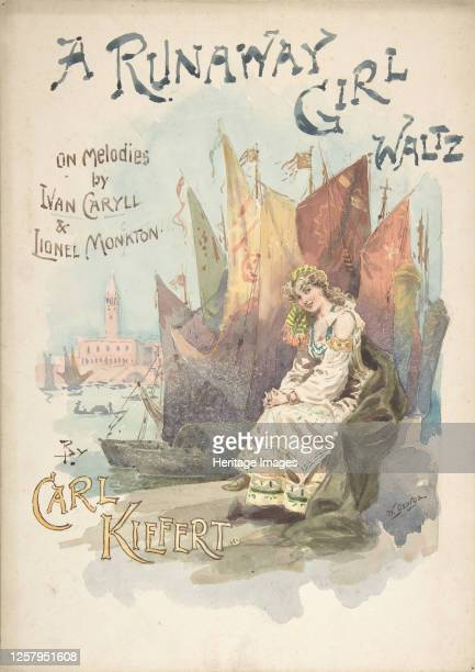 Design for music cover: A Runaway Girl Waltz, 1898. Artist W. George.