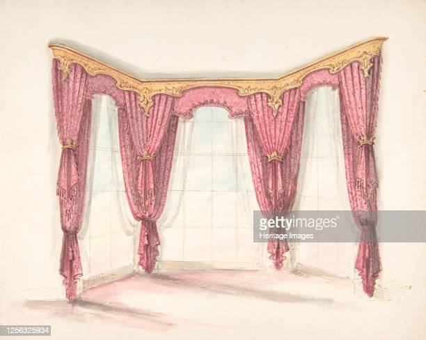 Design for Red Curtains with a Gold Pelmet early 19th century Artist Anon