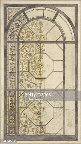 Design for Stained Glass Windows 19th century Artist John Gregory Crace