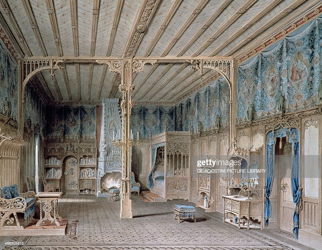 Design For The Bedroom Of King Ludwig Ii Of Bavaria In