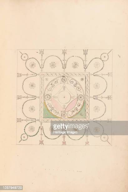 Design for the Ceiling of a Bedchamber at Goodwood House Sussex circa 1800 Artist James Wyatt