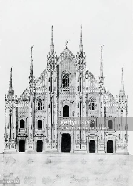 Design for the facade of Milan cathedral by Carlo Felice Soave Italy 18th century