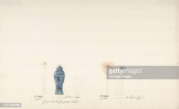Design for Two Vases circa 177085 Artist Anon