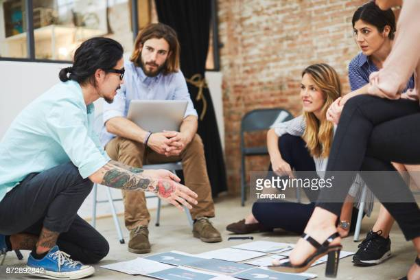 design meeting startup working on new project. - community centre stock pictures, royalty-free photos & images
