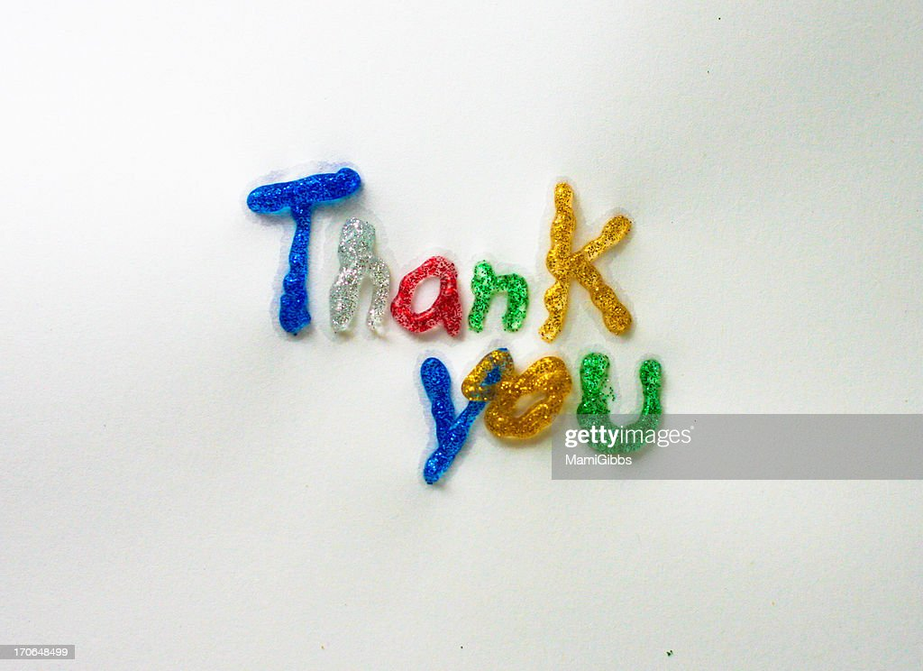 Design of characters: Thank you : Stock Photo
