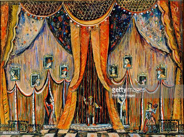 Design of curtain for the opera 'Dorothea' by T Khrennikov 1983 Found in the collection of the Central Artist's House Moscow