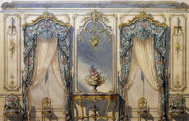design of rococo style decor for a living room pictures