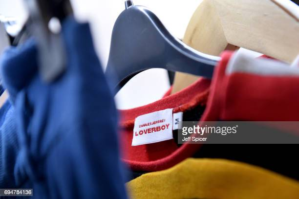 Design on display at the NEWGEN Popup Showroom Charles Jeffrey Loverboy during the London Fashion Week Men's June 2017 collections on June 11 2017 in...