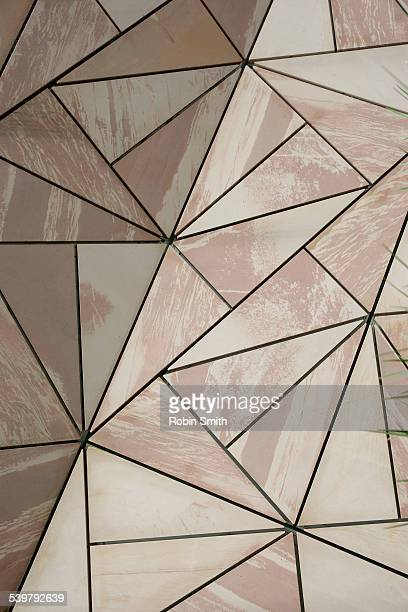 design patterns on federation square - federation square stock pictures, royalty-free photos & images