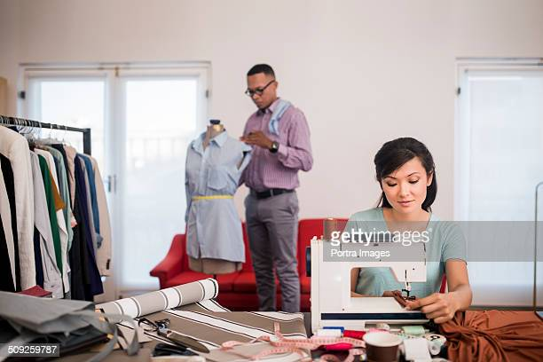 Design professionals working in studio