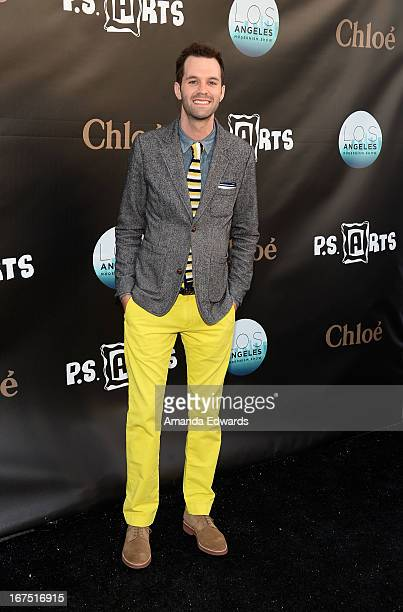 Design project manager Max Humphrey arrives at the Modernism opening night preview party benefiting PS Arts at The Barker Hanger on April 25 2013 in...