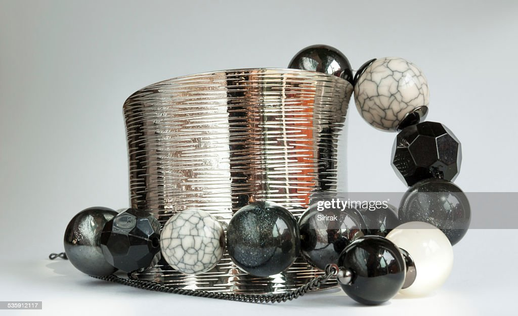 Design round stone bracelet : Stock Photo