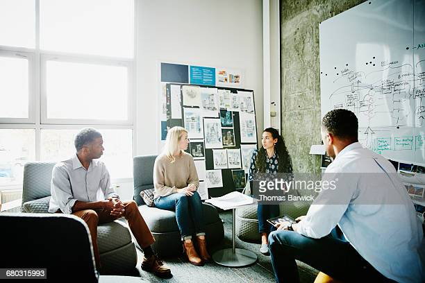 Design team having project meeting in office