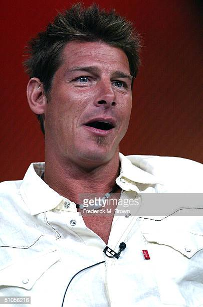 """Design Team Leader/Carpenter Ty Pennington of """"Extreme Makeover: Home Edition"""" speak with the press at the ABC Summer TCA Press Tour - Day 2 at the..."""