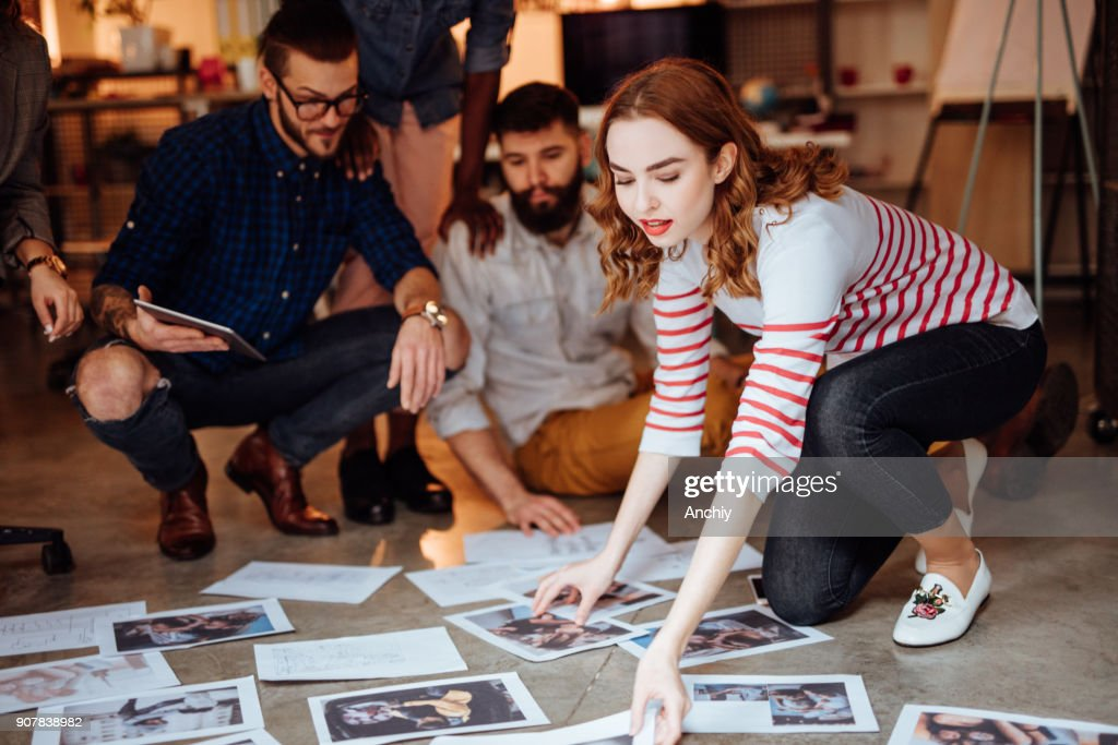 Design team planning for a new project : Stock Photo
