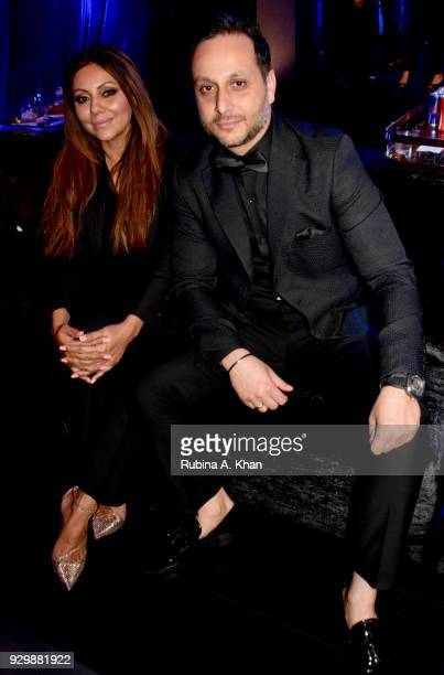Design virtuoso Gauri Khan with Chivas India's Pulkith Modi at the second edition of Chivas Alchemy at The Lodhi Hotel on March 9 2018 in New Delhi...