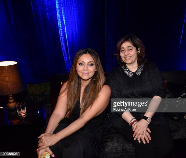 Design virtuoso Gauri Khan with Nitasha Nanda at the second edition of Chivas Alchemy at The Lodhi Hotel on March 9 2018 in New Delhi India