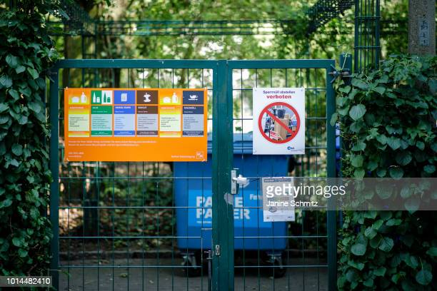 A designated area for proper waste disposal in an urban quarter on August 08 2018 in Berlin Germany
