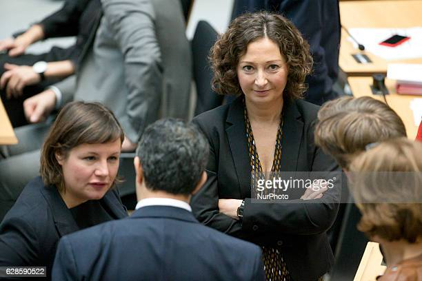 Designated Economy Senator Ramona Pop chats with other deputies prior to the voting for the election of the new Mayor of Berlin in the...