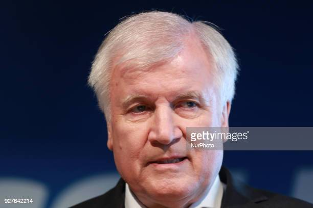 Designated minister of interiour and home affairs and chairman of the CSU Horst Seehofer in Munich Germany on 5 March 2018 The Christian Social Union...