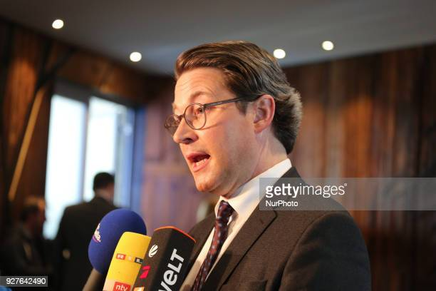 Designated minister of traffic Andreas Scheuer gives an interview The Christian Social Union anounced its new federal ministers the deputy state...