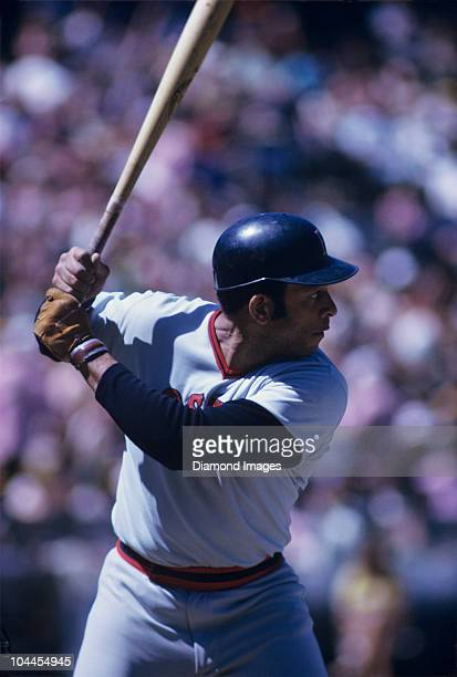 Designatedhitter Orlando Cepeda of the Boston Red Sox at bat during a game in July 1973
