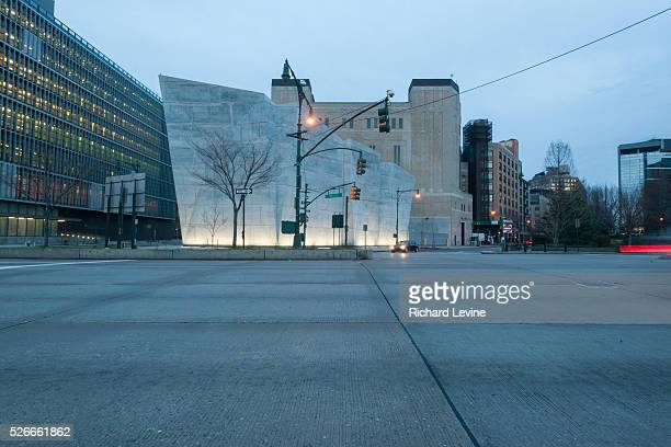Designed by Dattner Architects and WXY the newly opened New York City Dept. Of Sanitation Salt Shed is seen on West Street on Thursday, December 24,...