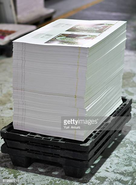 designed, printed, stacked and ready to go - flyer leaflet stock photos and pictures