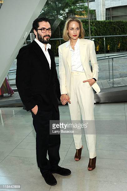 Designer Adam Kimmel and actress Leelee Sobieski attend the 2011 CFDA Fashion Awards at Alice Tully Hall Lincoln Center on June 6 2011 in New York...