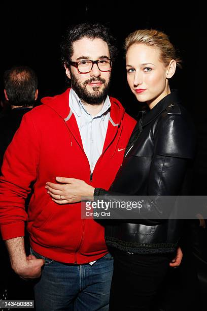 Designer Adam Kimmel and actress Leelee Sobieski attend the 2012 TFF Awards during the 2012 Tribeca Film Festival at the Conrad Hotel on April 26...