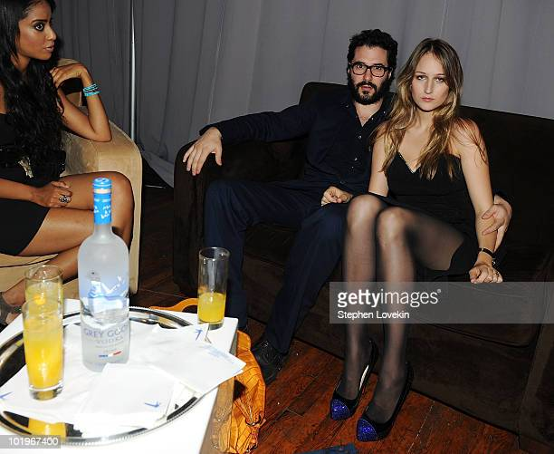 Designer Adam Kimmel and wife actress Leelee Sobieski attend the GREY GOOSE Vodka sponsored 38th Annual Fifi Awards at NY State Armory on June 10...