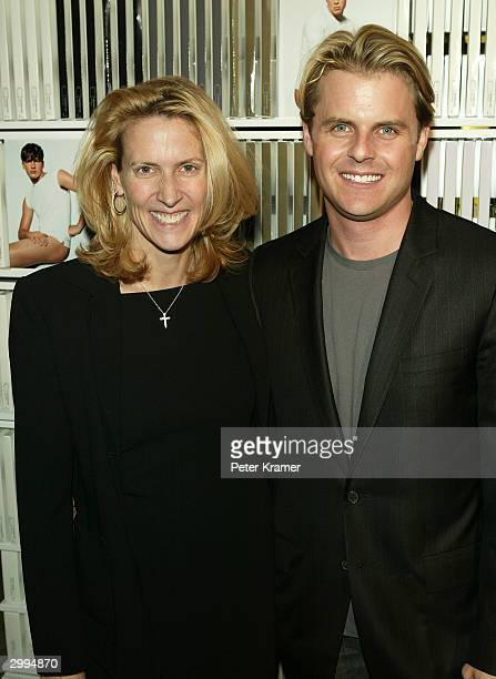 Designer Adam Lippes and partner Electra Toub attend the Launch Party for Adam and Eve underwear and sportswear February 18 2004 in New York City