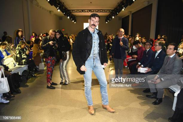 Designer Adam Selman attends the Cong Tri front row during New York Fashion Week: The Shows at Gallery II at Spring Studios on February 11, 2019 in...