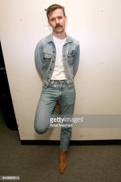 Designer Adam Selman poses backstage before the Adam Selman fashion show during New York Fashion Week Presented By MADE at Gallery 2, Skylight...