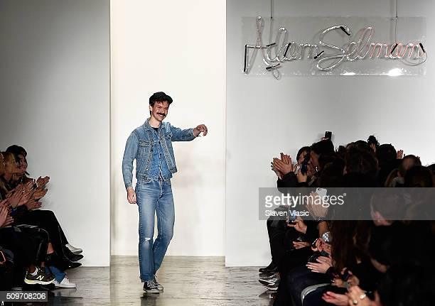 Designer Adam Selman walks the runway at Adam Selman fashion show during Fall 2016 MADE Fashion Week at Milk Studios on February 11 2016 in New York...