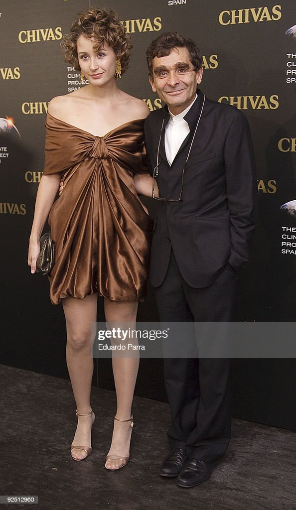 Designer Adolfo Dominguez and his faughter Adriana Dominguez attend The Climate Project photocall at Chivas Studio on October 29, 2009 in Madrid, Spain.