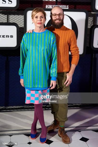 Designer Agatha Ruiz de la Prada and Tristan Ramirez attend 'Yo Dona' Mercedes Benz Fashion Week Madrid Autumn/Winter 201920 party at the Only You...