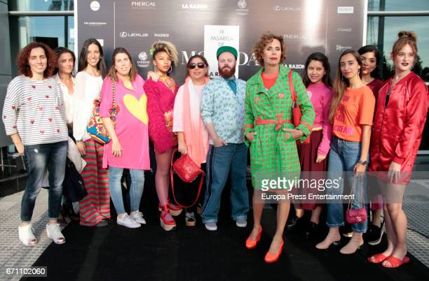 Designer Agatha Ruiz de la Prada attends the 'La Razon catwalk' front row at Lexus store on April 20 2017 in Madrid Spain