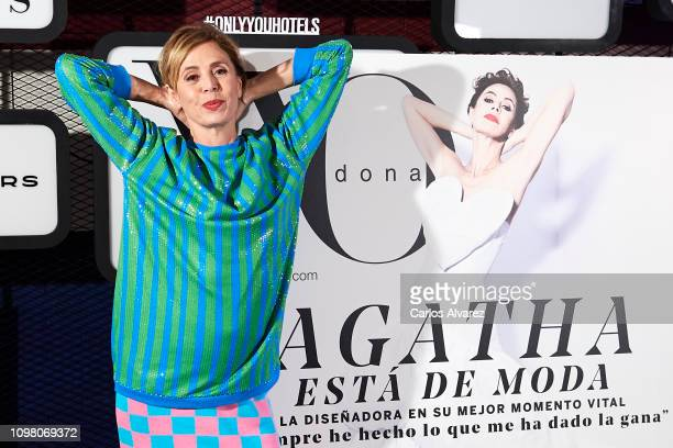 Designer Agatha Ruiz de la Prada attends 'Yo Dona' Mercedes Benz Fashion Week Madrid Autumn/Winter 201920 party at the Only You Hotel on January 22...