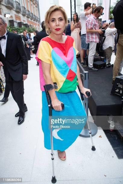 Designer Agatha Ruiz de la Prada is seen arriving at 'Yo Dona' International Awards 2019 at ThyssenBornemisza Museum on June 24 2019 in Madrid Spain