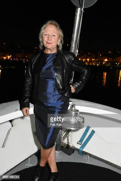 Designer Agnes B attends Technikart Boat Party 70th annual Cannes Film Festival at Lady of Jersey on May 24 2017 in Cannes France