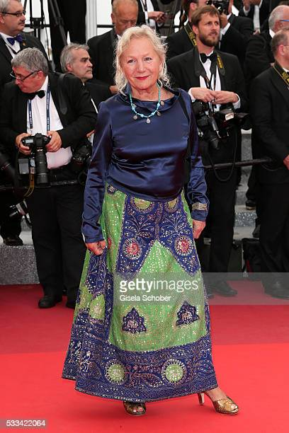 Designer Agnes B attends the closing ceremony of the 69th annual Cannes Film Festival at the Palais des Festivals on May 22 2016 in Cannes France