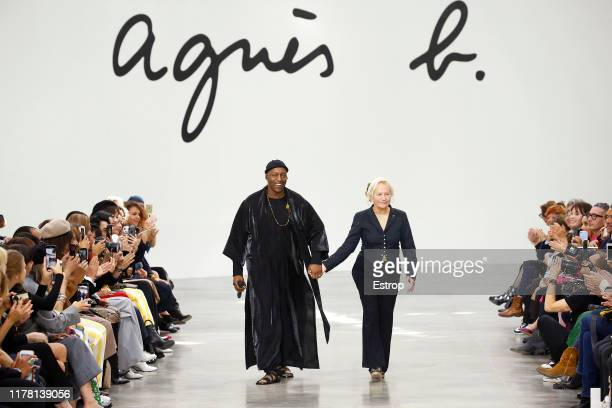 Designer Agnes Trouble during the Agnes B Womenswear Spring/Summer 2020 show as part of Paris Fashion Week on September 30 2019 in Paris France