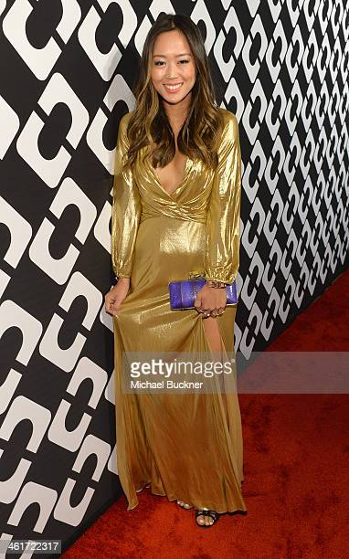 Designer Aimee Song attends Diane Von Furstenberg's Journey of A Dress Exhibition Opening Celebration at May Company Building at LACMA West on...